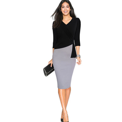 www.Petalsfashionz.com Quick shipping low prices women's business attire Black/Gray