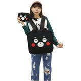 Kumamon Backpack Bear Style Shoulder Bag Schoolbag Travel Bags Knapsack 3 Pcs/Set Backpack+Purse+Pendant