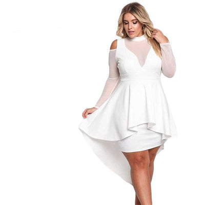 www.Petalsfashionz.com Quick shipping low prices women's evening dresses and wrap dresses White,