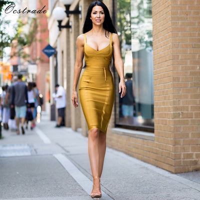 www.Petalsfashionz.com Quick shipping low prices women's Evening dresses and wrap dresses Ocstrade Women Bandage Dress  Rayon Sleeveless Summer New Arrivals Sexy Deep v Neck Vestido Bodycon Bandage Dress Club Party