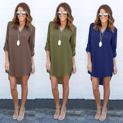 www.Petalsfashionz.com Quick shipping low prices $20 Or Less Women's Apparel And Accessories Chiffon Summer Long Sleeve Loose Casual Tops Blouse