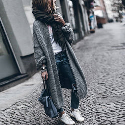 www.Petalsfashionz.com Quick shipping low prices women's Cardigans Batwing Sleeve Long Female Sweater For Women Loose Big Size Knitting Autumn Cardigan Sweaters Clothes Fashion