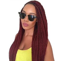 www.Petalsfashionz.com Quick shipping low prices women's Brazilian Remy & Non-Remy Hair WeaveTOMO 14 16 18 20 22Inch 30Roots/Pack Crotchet Braids 16 Colors Synthetic Senegalese Twist Crochet Hair Extensions 7Packs/Lot