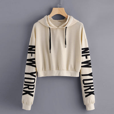 www.Petalsfashionz.com Quick shipping low prices women's Anime & Kpop Otaku And Fandom Merchandise Letters Long Sleeve Hoodie Sweatshirt Pullover Tops Blouse