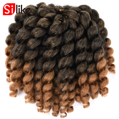 www.Petalsfashionz.com Quick shipping low prices women's Brazilian Remy & Non-Remy Hair Weave  8 inch Ombre Jumpy Wand Curl Crochet Braids 22 Roots Jamaican Bounce Synthetic Crochet Hair Extension for Black Women