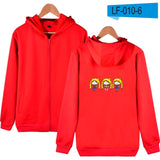New LUCKYFRIDAYF Sailor Moon Hooded sweatshirt women cotton Fashion Coat Funny women hoodies sweatshirts zipper Anime Clothes