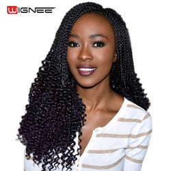 www.Petalsfashionz.com Quick shipping low prices women's Brazilian Remy & Non-Remy Hair Weave 20 Inches Curly Senegalese Twist Crochet Braiding Synthetic Fiber Hair Extensions For Women Natural Black Hair Wig Piece