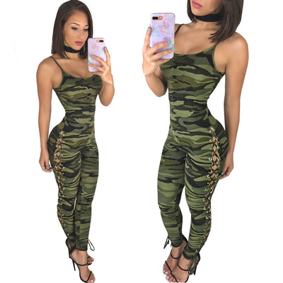 www.Petalsfashionz.com Quick shipping low prices women's rompers & jumpsuits summer women set sleeveless camouflage costume novelty casual long rompers
