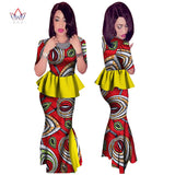 www.Petalsfashionz.com Quick shipping low prices women's Traditional Attire Spring Africa Dashiki African Women Clothing Africa2 piece for Women Brand Clothing Women Printed o-neck African Skirt Top