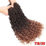 New Silky Strands 2X Bohemian Mambo Goddess Locs Crochet Hair Extensions Crochet Braids Ombre Kanekalon Braiding Hair Synthetic Bulk