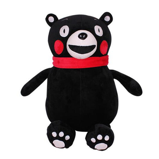 www.Petalsfashionz.com Quick shipping low prices women's Anime & Kpop Otaku And Fandom Merchandise Anime Xiongben County Mascot KUMAMON Stay Adorable Plush Doll Cartoon Black Bear Soft Stuffed Toy Retail