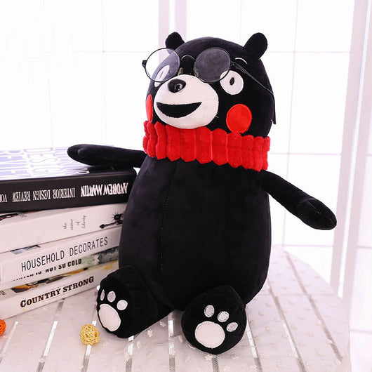 www.Petalsfashionz.com Quick shipping low prices women's Anime & Kpop Otaku And Fandom Merchandise Xiongben County Mascot KUMAMON Stay Adorable Plush Doll Pillow Black Sauce Black Bear Birthday Gifts Soft Doll MR07