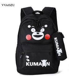 www.Petalsfashionz.com Quick shipping low prices women's Anime & Kpop Otaku And Fandom Merchandise KUMAMON Backpacks Japan Anime Canvas Bear Schoolbag 13