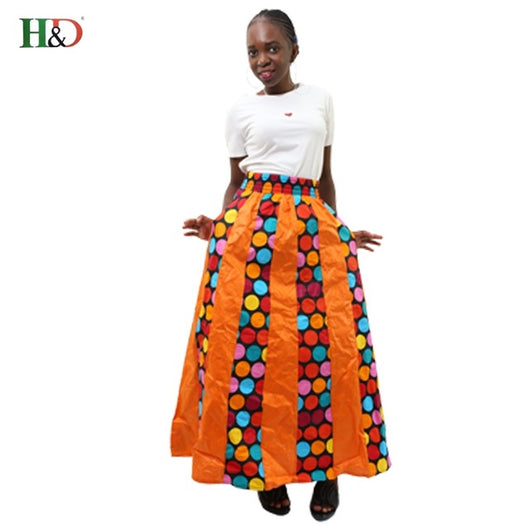 www.Petalsfashionz.com Quick shipping low prices women's Traditional Attire African spring summer skirt long African skirt summer women clothing Dashiki longue robe femme Plus Size print skirt green red