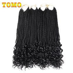 www.Petalsfashionz.com Quick shipping low prices women's Brazilian Remy & Non-Remy Hair Weave 18Inch 30Roots Curly End Senegalese Twist Crochet Braids Synthetic Hair Extensions For Women Africa American Hair Braiding
