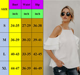 www.Petalsfashionz.com Quick shipping low prices women's Blouses & Unique Classy Stylus Apparel Sexy Off Shoulder Women Casual Chiffon Tops Cami Cold Ruffles Short-sleeve Women