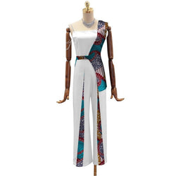 www.Petalsfashionz.com Quick shipping low prices women's Traditional Attire Summer Jumpsuit African Wax Print Jumpsuit Fashion Vestidos Bazin Riche African Women Patchwork Clothing