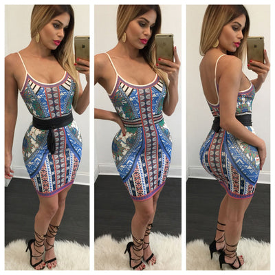 www.Petalsfashionz.com Quick shipping low prices women's Club Dresses Sexy Club Flower Print Bodycon dress Sleeveless Strap Mini Party dresses
