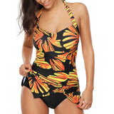 www.Petalsfashionz.com Quick shipping low prices women's swimsuit & poolside attire swimsuit Sexy Women Dresses Summer Sleeveless Beach Ladies Slit Dress Sunflower Print uimapuku Cover Up With Bries