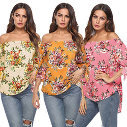 www.Petalsfashionz.com Quick shipping low prices women's Blouses & Unique Classy Stylus Apparel  3 color autumn sexy women's blouse bow print seven-point sleeve chiffon blouse women's blouse