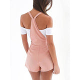 www.Petalsfashionz.com Quick shipping low prices women's rompers & jumpsuits  bodysuits Women Zip Overalls for women Dungarees Fit Solid Rompers High Waist Playsuit Shorts Pants