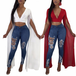 www.Petalsfashionz.com Quick shipping low prices women's Blouses & Unique Classy Stylus Apparel  Long  Red Deep V Neck Crop Top Slim Fit Short Shirts
