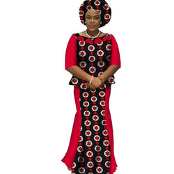 www.Petalsfashionz.com Quick shipping low prices women's Traditional Attire Africa Skirt Set With Headwrap Africa clothes Plus Size Traditional African Clothing Sets