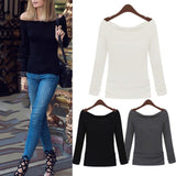 www.Petalsfashionz.com Quick shipping low prices women's Blouses & Unique Classy Stylus Apparel Slim Long Sleeve Tops Off Shoulder Casual Cotton Blouses Autumn