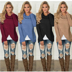 www.Petalsfashionz.com Quick shipping low prices women's Cardigans Autumn Winter Warm Cardigan Long-Sleeve Elastic Sweater Female Pullover Turtleneck Knitted Sweaters Tops