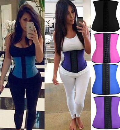 www.Petalsfashionz.com Quick shipping low prices women's Body enhancement Latex Waist Steel Boned Waist Trainer Corset Underwear Slimming Body Shaper Shapewear Modeling Strap Tummy Control