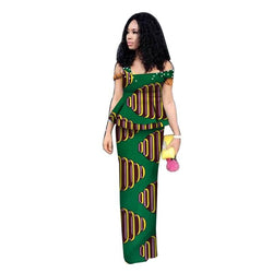 www.Petalsfashionz.com Quick shipping low prices women's Traditional AttireAfrican Top and Skirts Sets Bazin Riche Traditional African Women Clothing Dashiki 2 Pieces Skirts