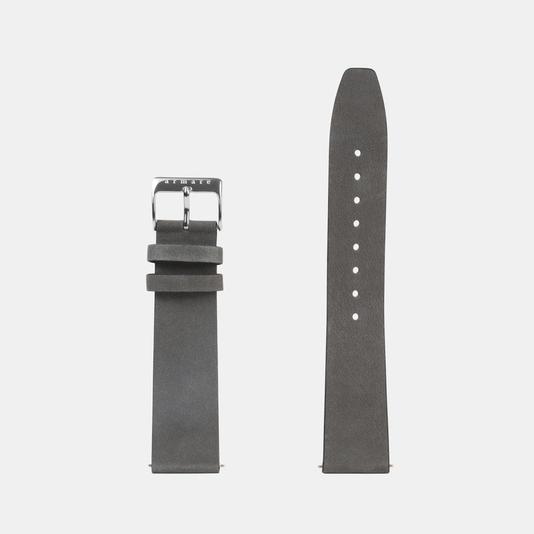 armare-watches-grigio-scuro-leather-watchband-silver