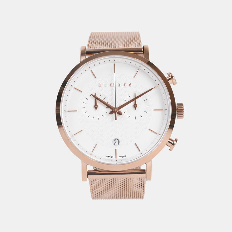 armare-watches-lechrono41-mesh-rose-gold