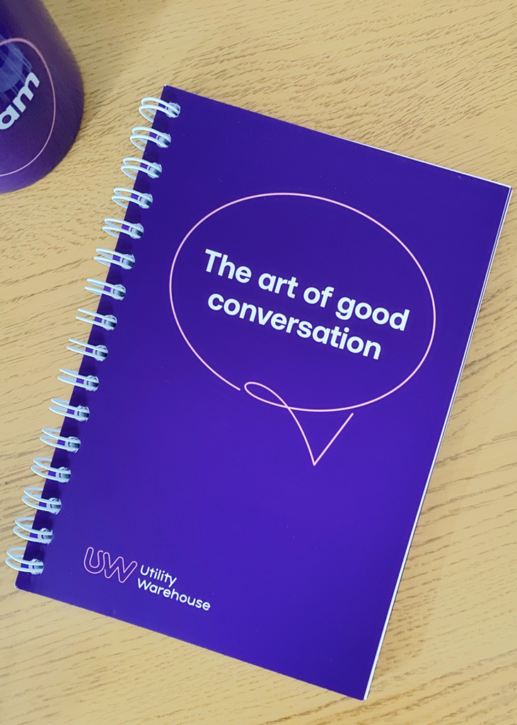 'The Art of Good Conversation' notebook