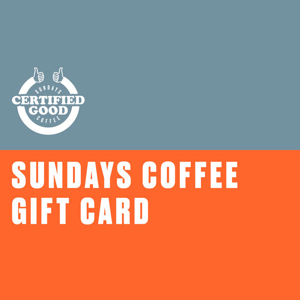 Sundays Coffee gift card