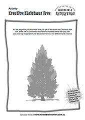 Kids Activity Sheet Creative Christmas Tree