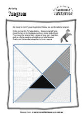 Tangram activity sheet for kids