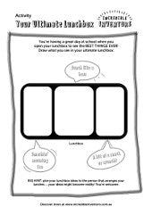 Activity Sheet Your Ultimate Lunchbox
