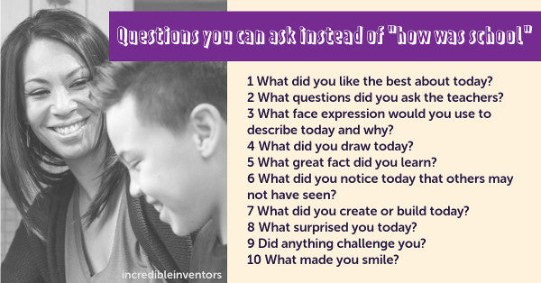 "Questions to ask kids instead of ""how was your day?"""