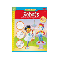Watch Me Draw Robots activity book