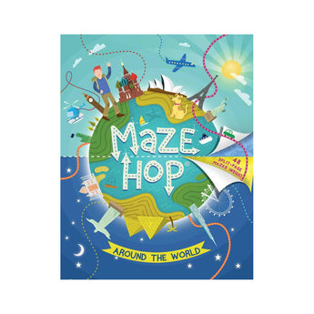 Maze Hop Around the World kids activity book