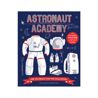 Astronaut Academy activity book front cover