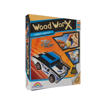 Wood Worx Street Car activity kit for kids