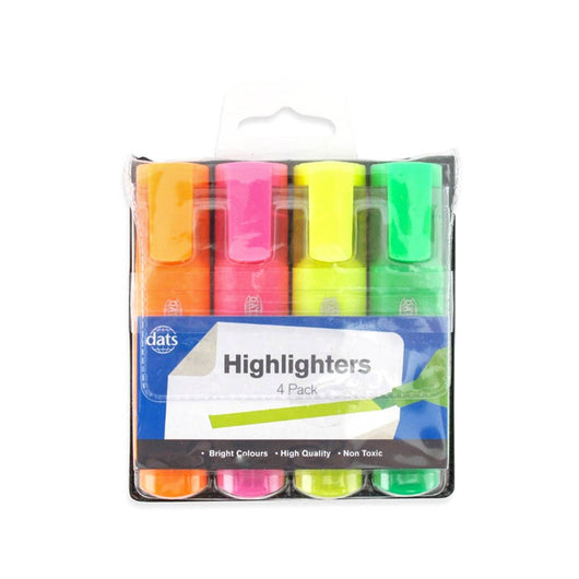 DATS Highlighters 4 Pack