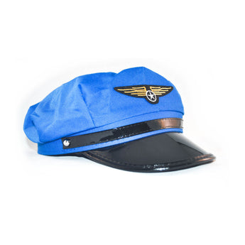 Blue pilot hat cap costume