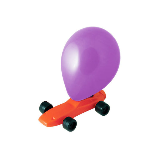 Balloon powered car in red