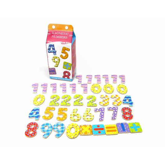 Wooden Magnetic Numbers for Kids