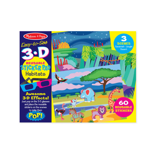 Melissa and Doug 3D Reusable Sticker Pad Habitats