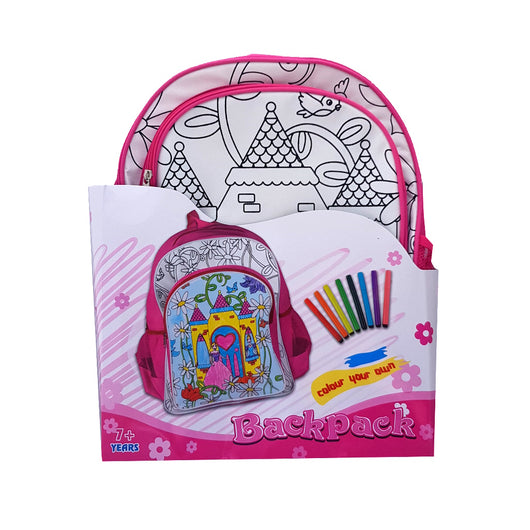 Colour Your Own Backpack - Castle