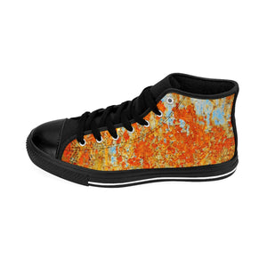 Light Blue Rust Men's High-Top Sneakers - Valentino Unlimited